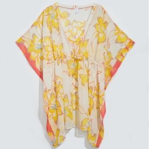 ECHO Lily Silky Butterfly Swim Cover-Up NWT